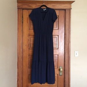 Stunning long, dark blue GAP dress!